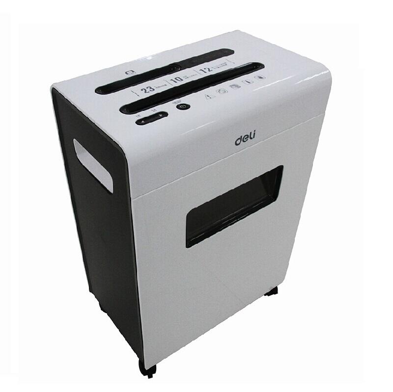 得力9903平板系列大容量碎纸机 可碎光盘、信用卡