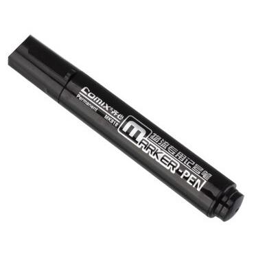 齐心MK818速干耐用 大单头物流记号笔 黑色