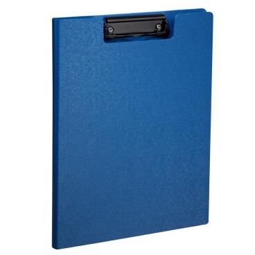 齐心 A723 美石系列 双折式书写板夹 A4 钛蓝