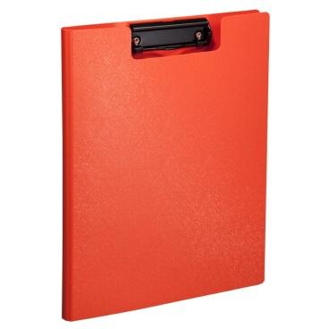 齐心 A723 美石系列 双折式书写板夹 A4 橘红