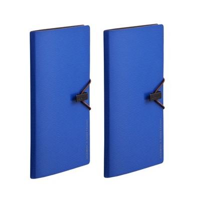 齐心 A7628 Germini系列 便携式卡片册 30枚 蓝色