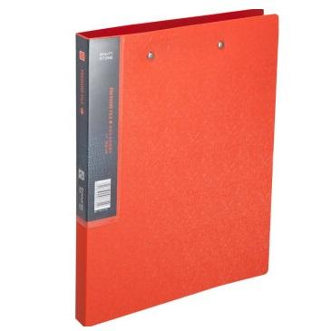 齐心 A625 美石系列 双强力夹  橘红