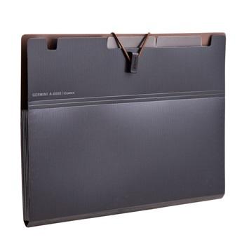齐心 A7625 Germini系列 6格风琴包 A4 黑色