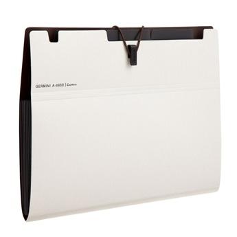 齐心 A7625 Germini系列 6格风琴包 A4 白色