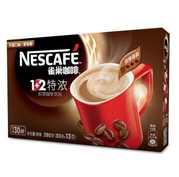 雀巢 1+2 特浓速溶 咖啡 15g×30条