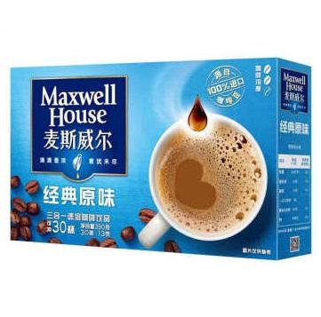 麦斯威尔经典原味速溶咖啡 30条装