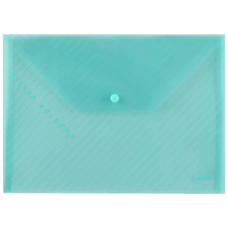 齐心 C330 A4 浅绿 按扣式 文件袋 100%  新料 无毒 无异味