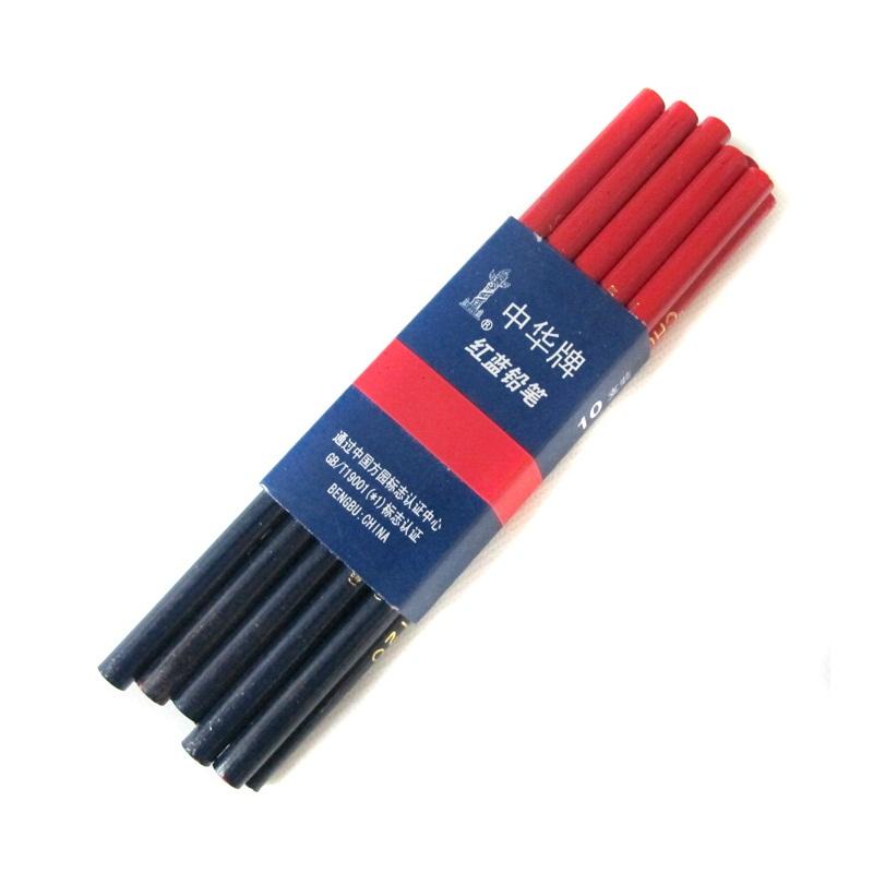 中华牌120红蓝双色铅笔 10只装