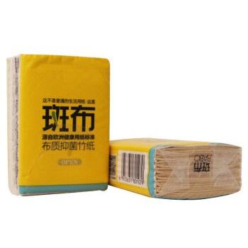 斑布 本色纸无漂白竹纤维手帕纸 随身包 4层×8片×6包装