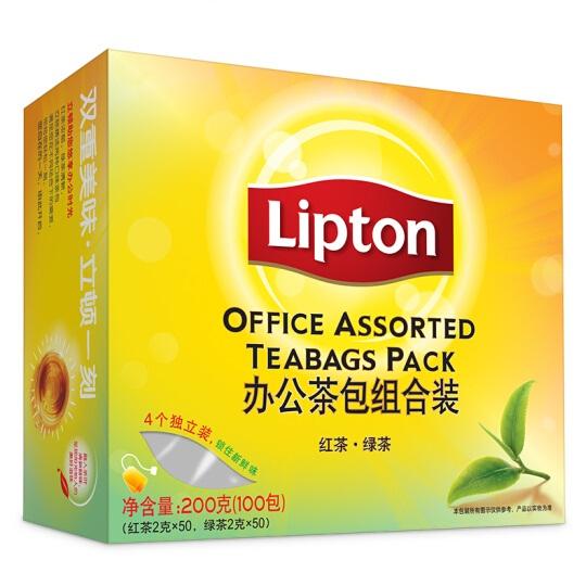 立顿 红茶50包+绿茶50包 组合装