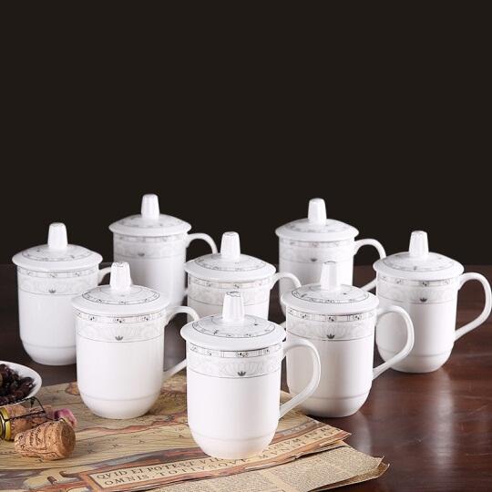 商务会议陶瓷杯 8只装