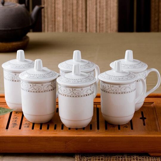 商务会议陶瓷杯 6只装