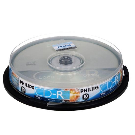 飞利浦 CD-R 刻录盘 52速 700M 10片装