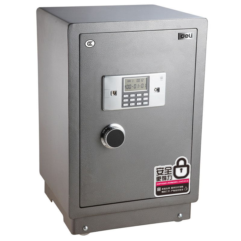 得力 3615 电子防盗全钢保险柜 3C认证 H710 高630mm×宽430mm×深380mm