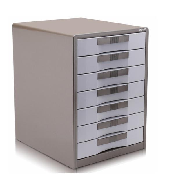 得力 9703 金属外壳 七层 文件柜 带锁
