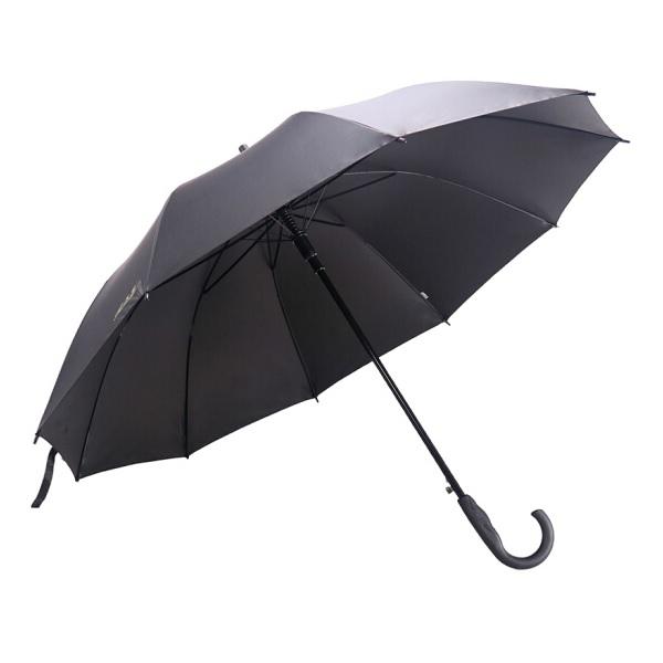 天堂193E加大加固黑胶商务雨伞 直杆