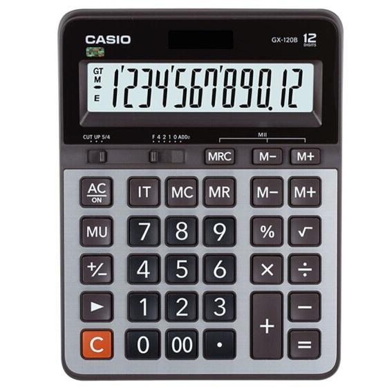 卡西欧GX-120B 大号计算器 12位 金属面板