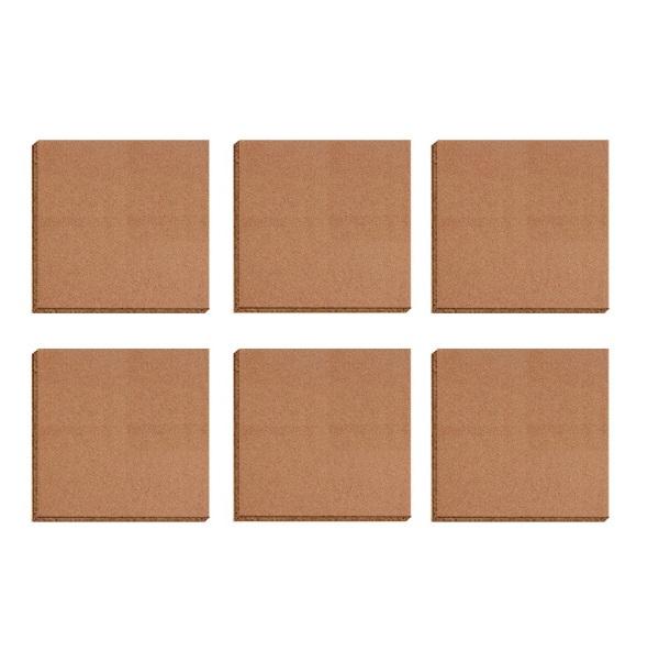得力 30cm×30cm×6块 拼接式 软木板 留言板 照片墙  8760