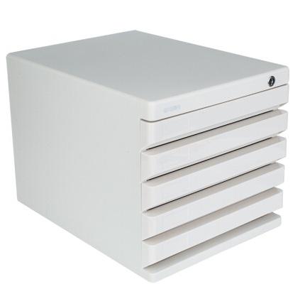 晨光ADM95298五层 硬塑文件柜 灰色 带锁