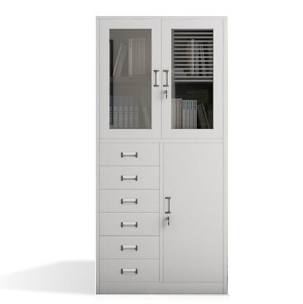 长城 亚光 加厚型  连体式 边六抽柜
