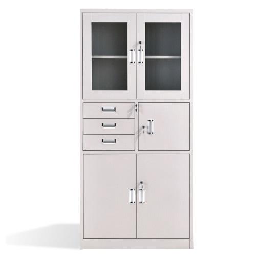 长城 亚光 加厚型  连体式 边三抽书柜