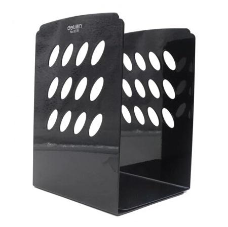 得力 9276 黑色 金属网格铁书立架 8寸 宽150mm×高212mm