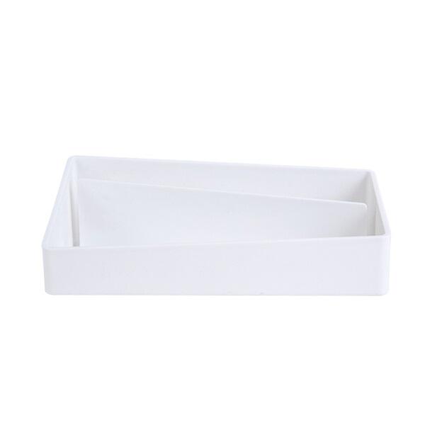 得力8910 乐素系列 桌面收纳盒 白色