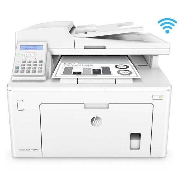惠普(HP)M227fdn 黑白激光一体机 A4 四合一(打印 复印 扫描 传真)无线打印 网络打印 自动双面打印