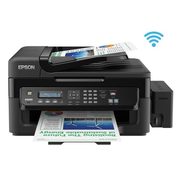 爱普生(EPSON)L551 彩色喷墨 一体机 A4 四合一(打印 复印 扫描 传真)无线打印