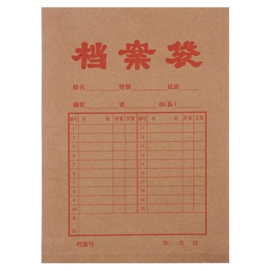 晨光 APYRA609 加厚 牛皮纸档案袋 A4 克重:180g  20个装