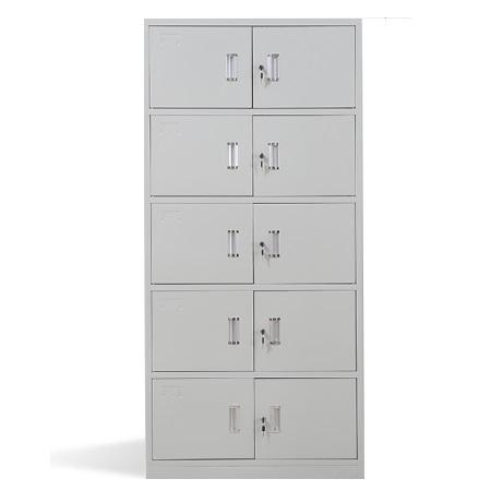 长城 亚光 加厚型 连体式 单锁五节柜 2+3节