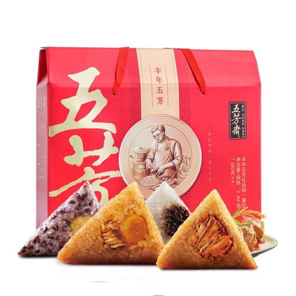 五芳斋 丰年五芳 粽子大礼盒 端午粽子100g×24个 2400g