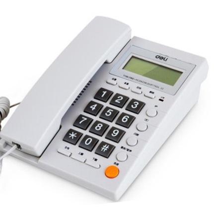 得力 785 时尚简约 来电显示电话机  白色