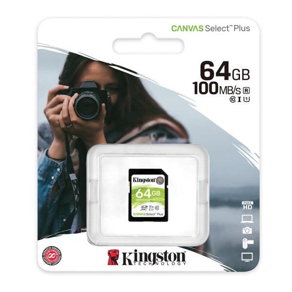 金士顿 64GB 高速相机内存卡 SD卡