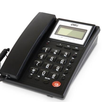 得力 786 翻转屏幕 来电显示电话机  黑色