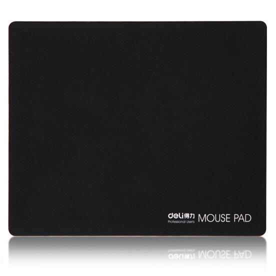 得力 3692 防滑耐磨 鼠标垫 黑色 250mm×200mm