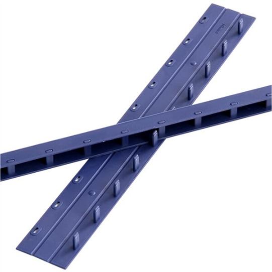 得力3827十孔装订夹条10mm 蓝色