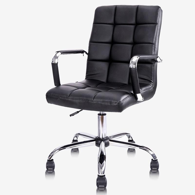 得力 4912 人体工学 PU皮面 可升降 滑轮 高靠办公椅