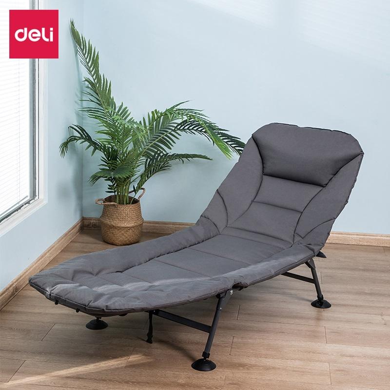 得力 33317 折叠 午休躺椅 灰色