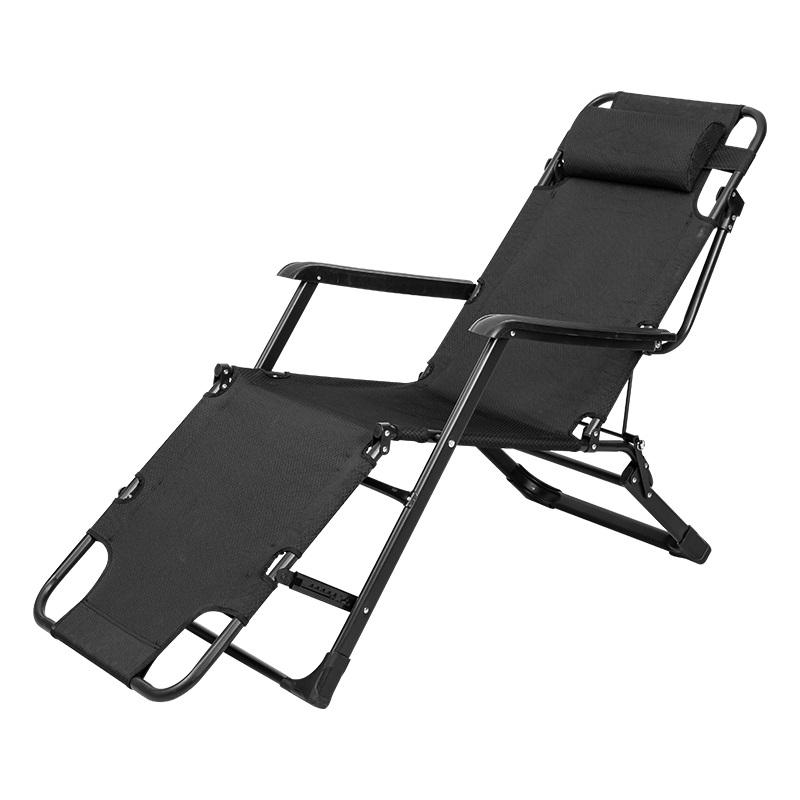 得力 87141 折叠 午休躺椅 无棉垫 黑色