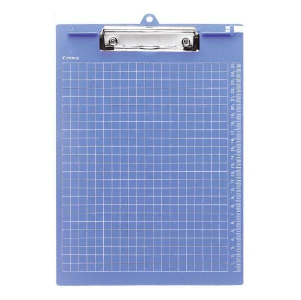 齐心A724竖式 加厚塑胶板夹 A4 蓝色